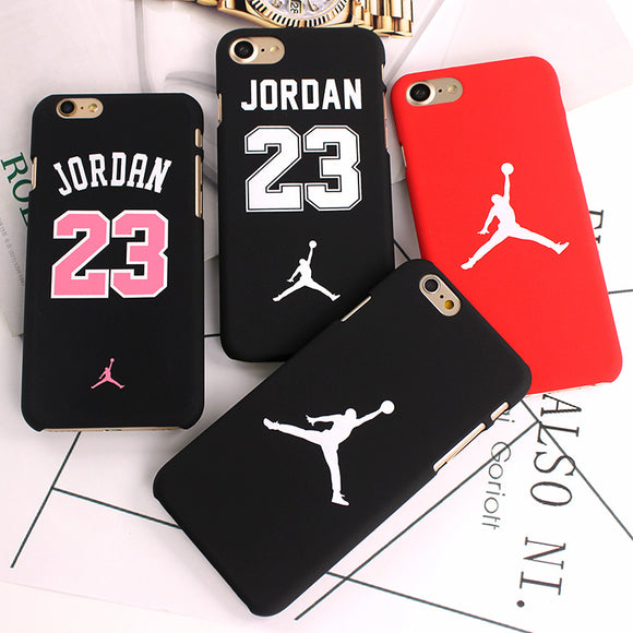 Slim NBA Jordan Jumpman Matte Hard Plastic Back Cover For iPhone X 7 8 6 6s Plus 5s SE