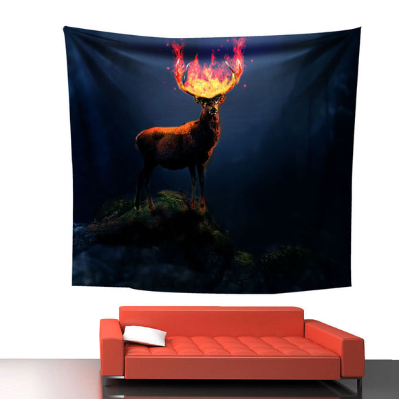Custom Deer Print Wall Hanging Tapestry Beach Picnic Throw Yoga Mat Towel Blanket