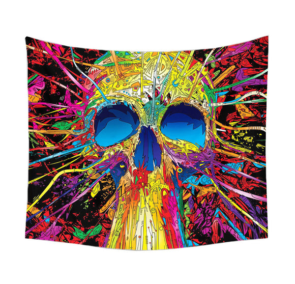 Custom Skull Print Wall Hanging Tapestry Wall Hanging Bedspread Beach Towel Mat Blanket Table