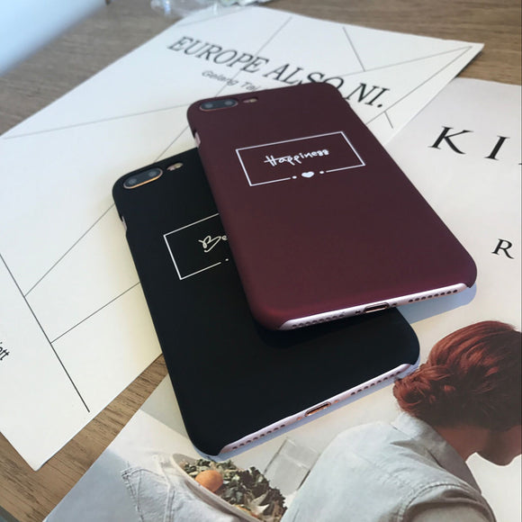 Red Wine Letter Hard PC Phone Case For iPhone X 8 7 6 6s Plus