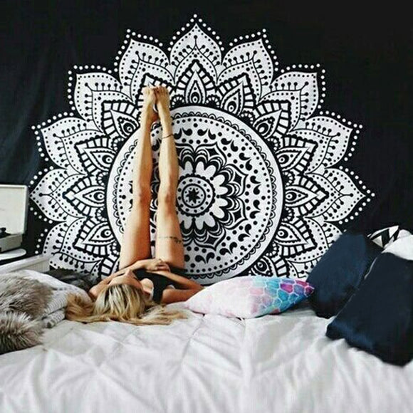 Wall Hanging Mandala Tapestry Table Cloth Bedspread Beach Towel Mat Blanket Table Decor