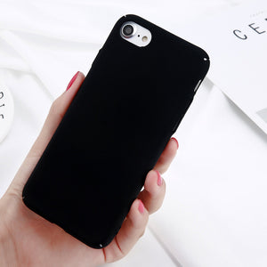 Simple Solid Color Matte Phone Case For iPhones