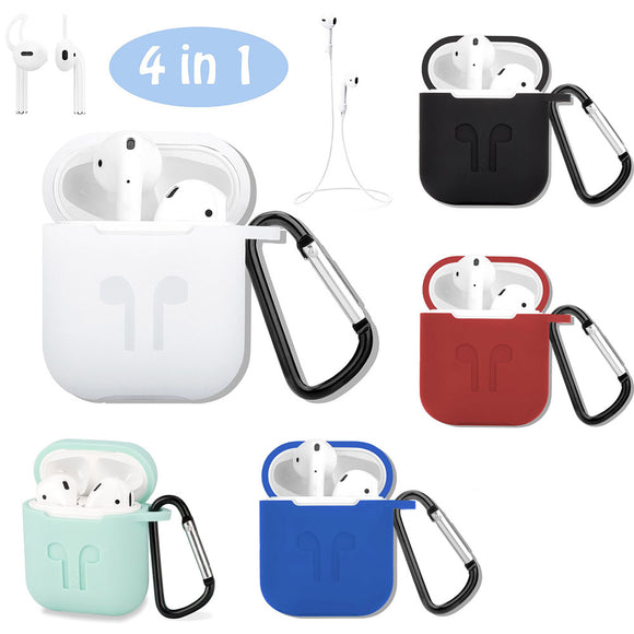 4In1 Anti Shock Silicone Charging Storage Case For Apple AirPods