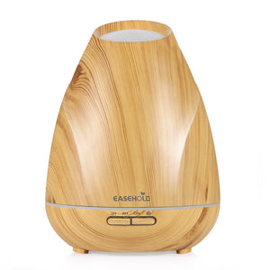 400ml Essential Oil Diffuser Wood Grain Ultrasonic Cool Mist Humidifier LED Lights for Home, Yoga, Office, Spa, Bedroom