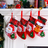 Santa Snowman Bear Reindeer Pendant Christmas Ornaments Stockings Decorations for Home