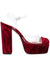 Gilda Platform - Cranberry crushed and pvc with platform. Profile View