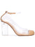 Vertigo - Beige nappa leather and pvc pump with acrylic heel. Profile View