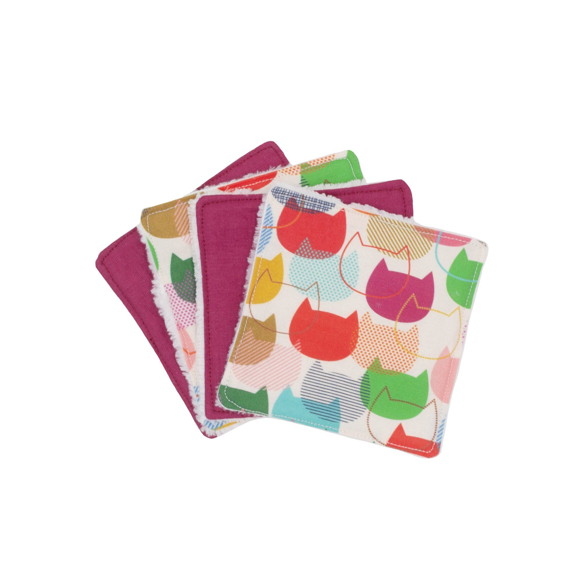 Lot de 4 lingettes lavables- Servane