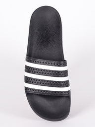 MENS ADILETTE BLACK/WHITE/BLACK SANDALS