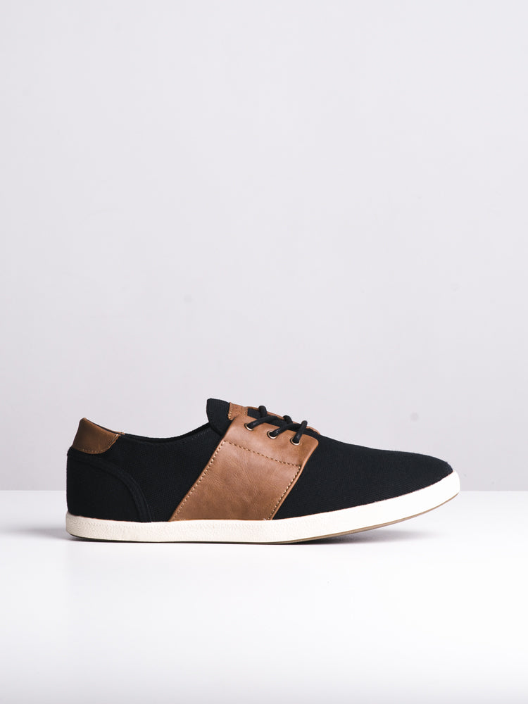 MENS AIDEN BLACK CANVAS SHOES- CLEARANCE