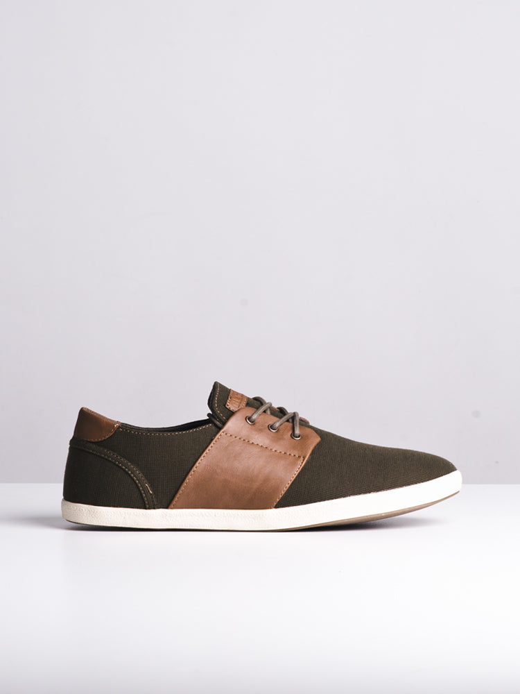 MENS AIDEN GREEN CANVAS SHOES- CLEARANCE