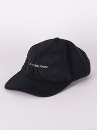 CK JEANS EMB HAT - BLACK - CLEARANCE