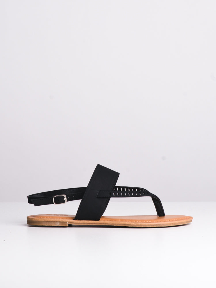 WOMENS CASEY BLACK SANDALS- CLEARANCE