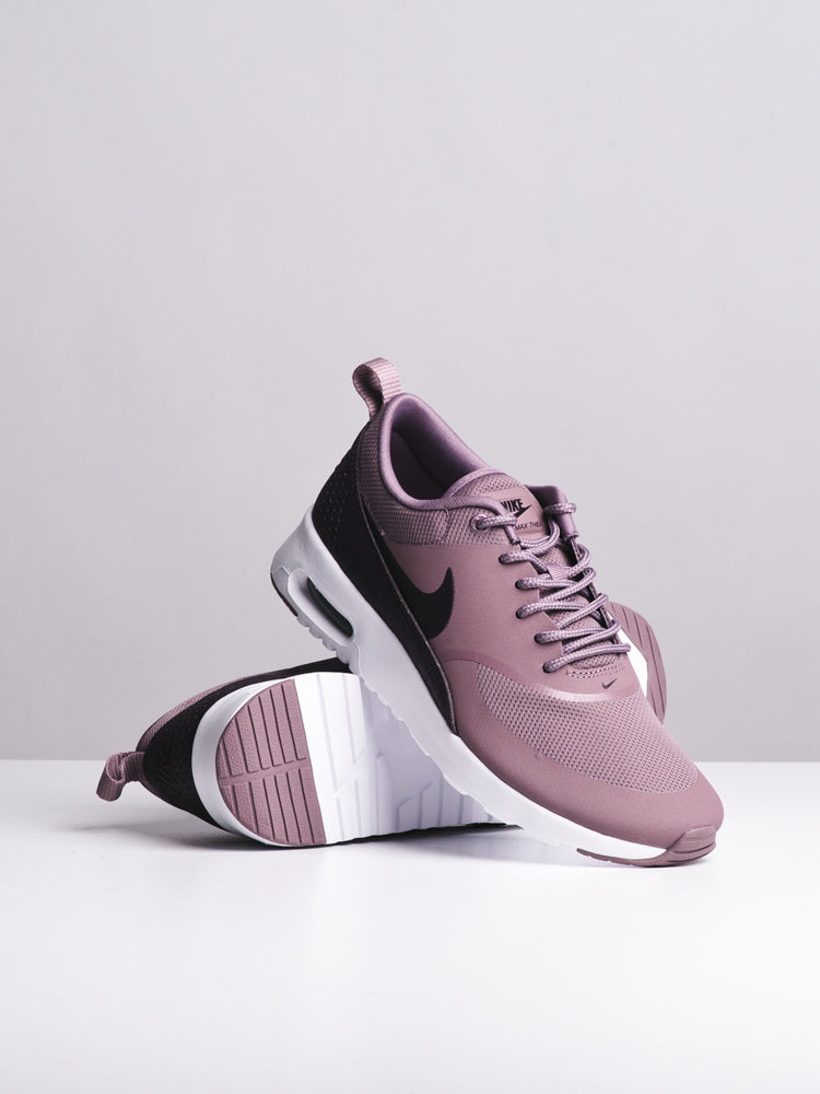 WOMENS AIR MAX THEA TAUPE/WINE SNEAKERS- CLEARANCE