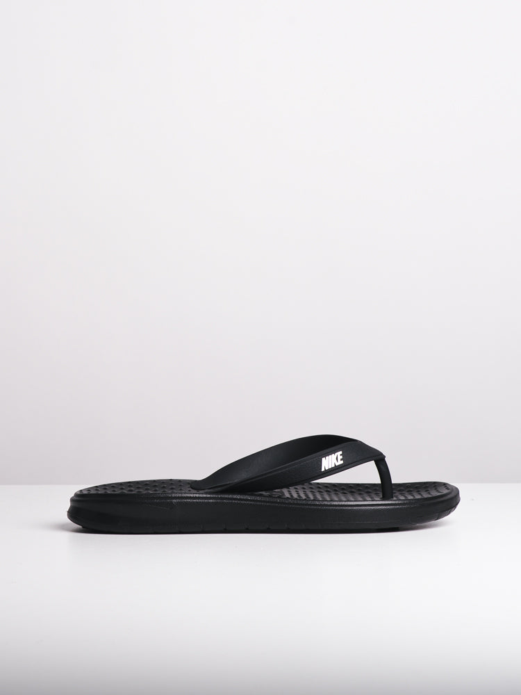 04722343208a MENS NIKE SOLAY THONG BLACK SANDALS