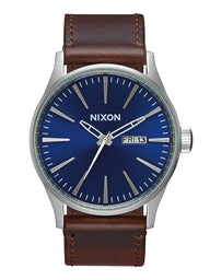 MENS SENTRY LEATHER - BLUE/BROWN WATCH