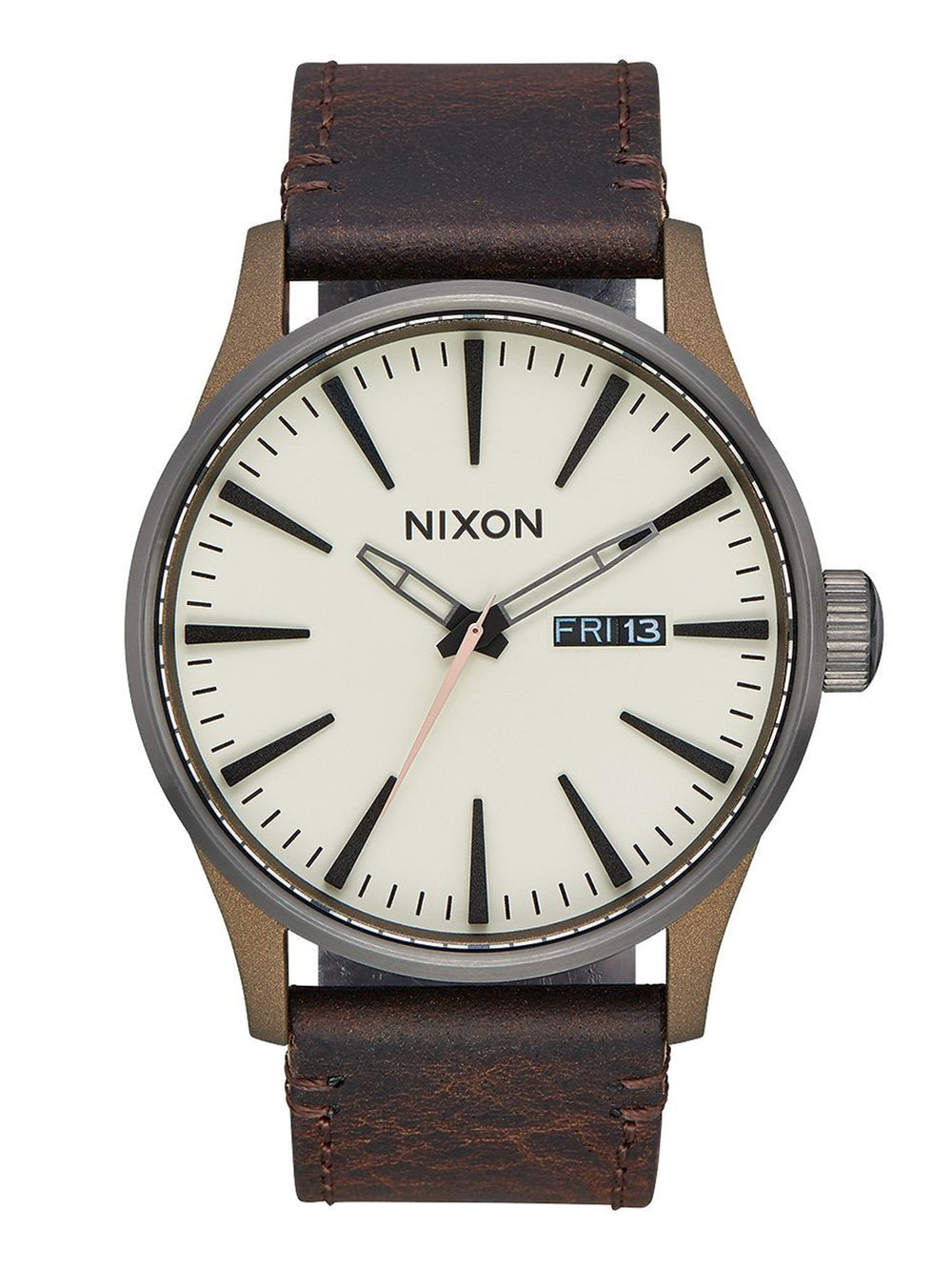 MENS SENTRY LEATHER - BRONZE/GUNMETAL WATCH