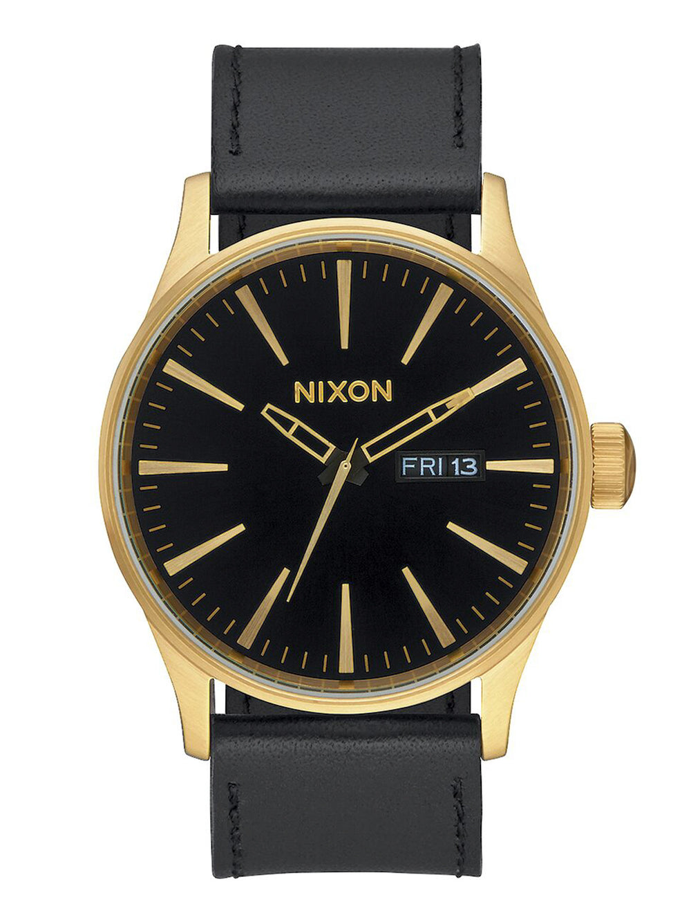 MENS SENTRY LEATHER - GOLD/BLACK WATCH