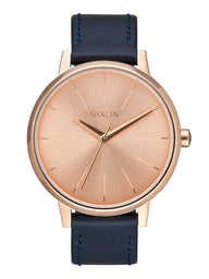 WOMENS KENSINGTON LEATHER - ROSE/NAVY WATCH