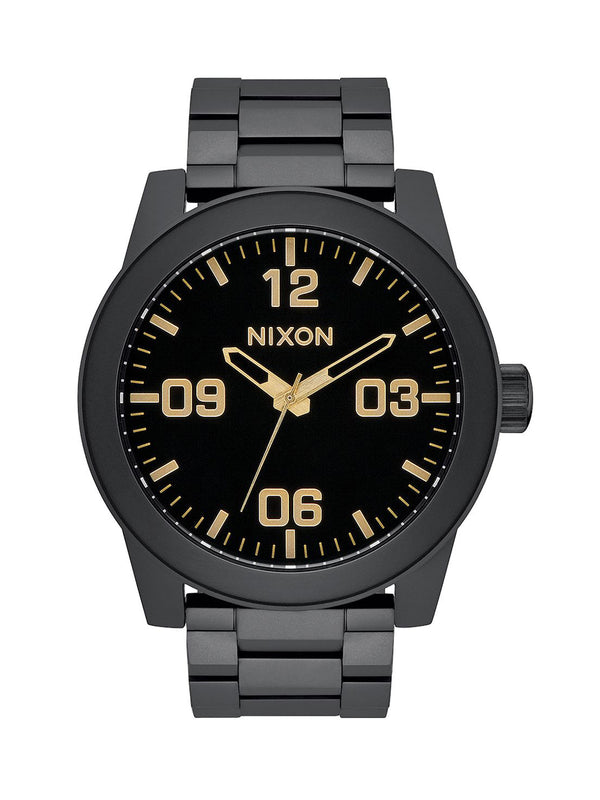 MENS CORPORAL SS - MATTE BLACK/GOLD