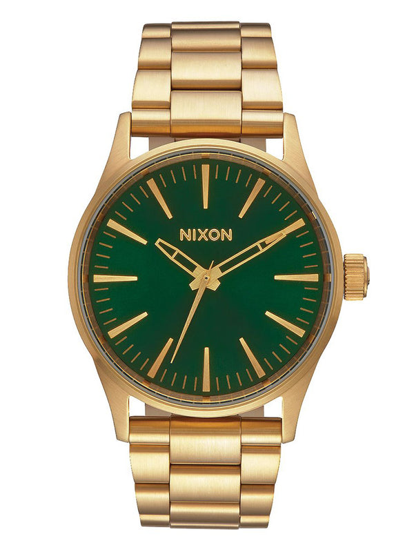 MENS SENTRY 38   GOLD/GREEN SUNRAY WATCH