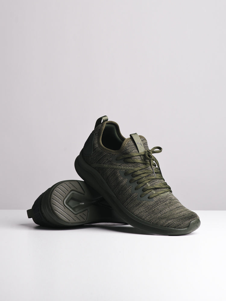 MENS IGNITE FLASH EVOKNIT OLIVE SNEAKERS- CLEARANCE