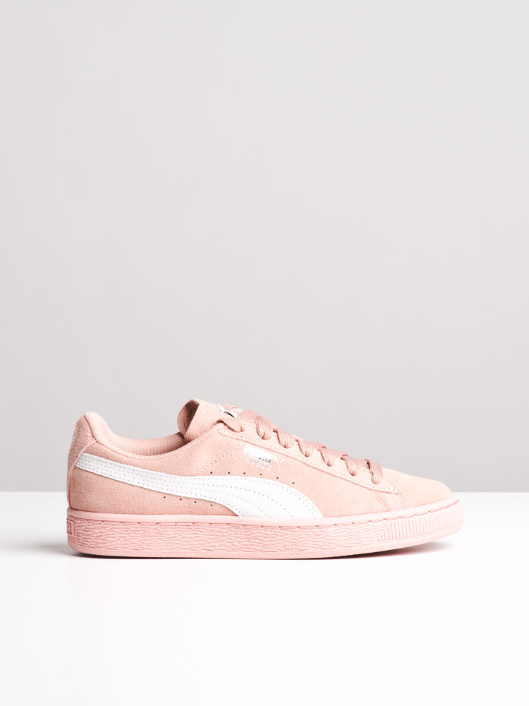 WOMENS SUEDE CLASSIC PEACH BEIGE SNEAKERS- CLEARANCE