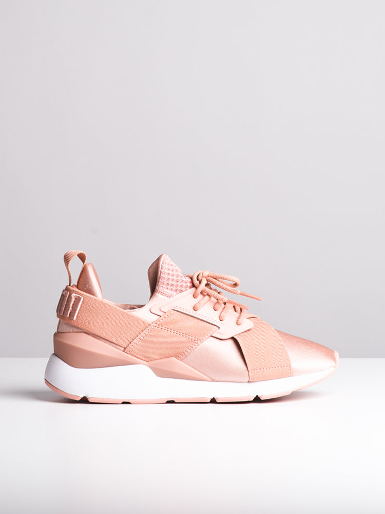 WOMENS MUSE SATIN EP PEACH/WHITE SNEAKERS- CLEARANCE
