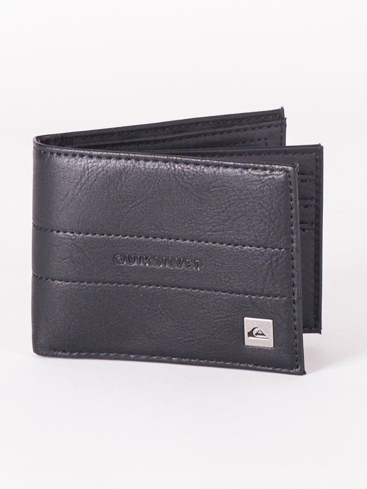 ANTHRO PU WALLET - BLACK - CLEARANCE