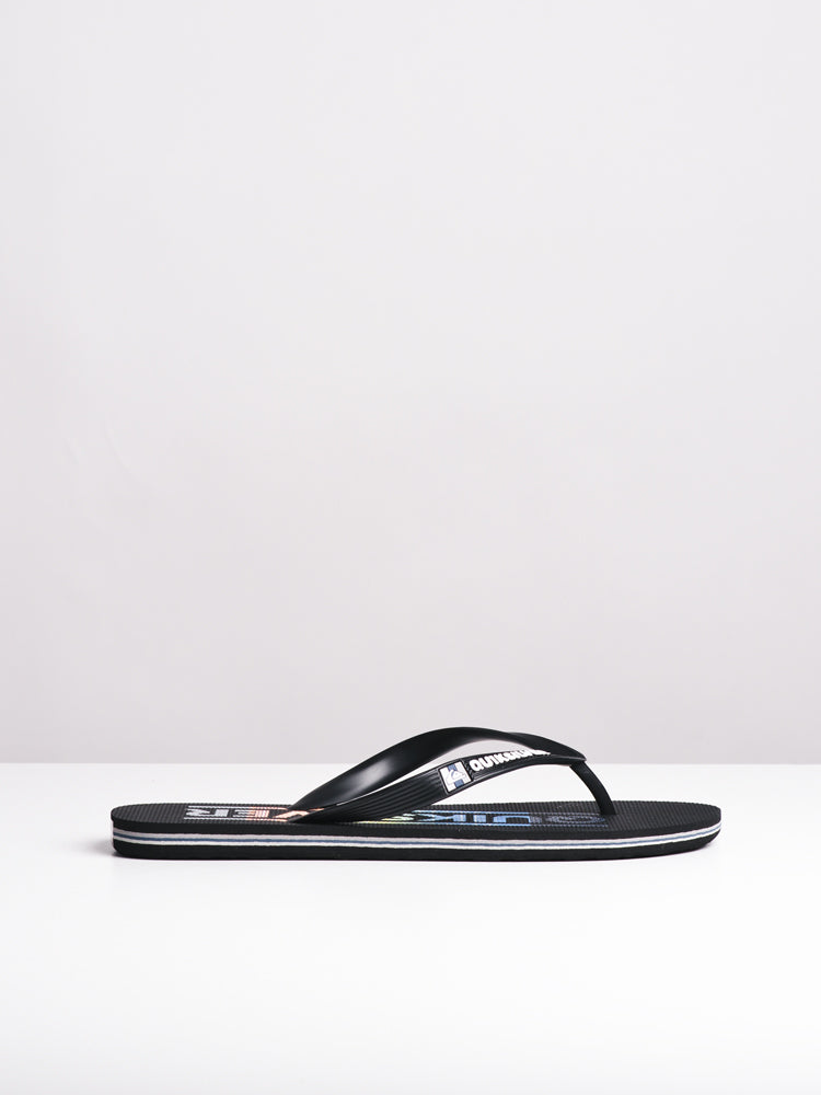 MENS MOLOKAI WATERMARK BLACK/RED SANDALS- CLEARANCE