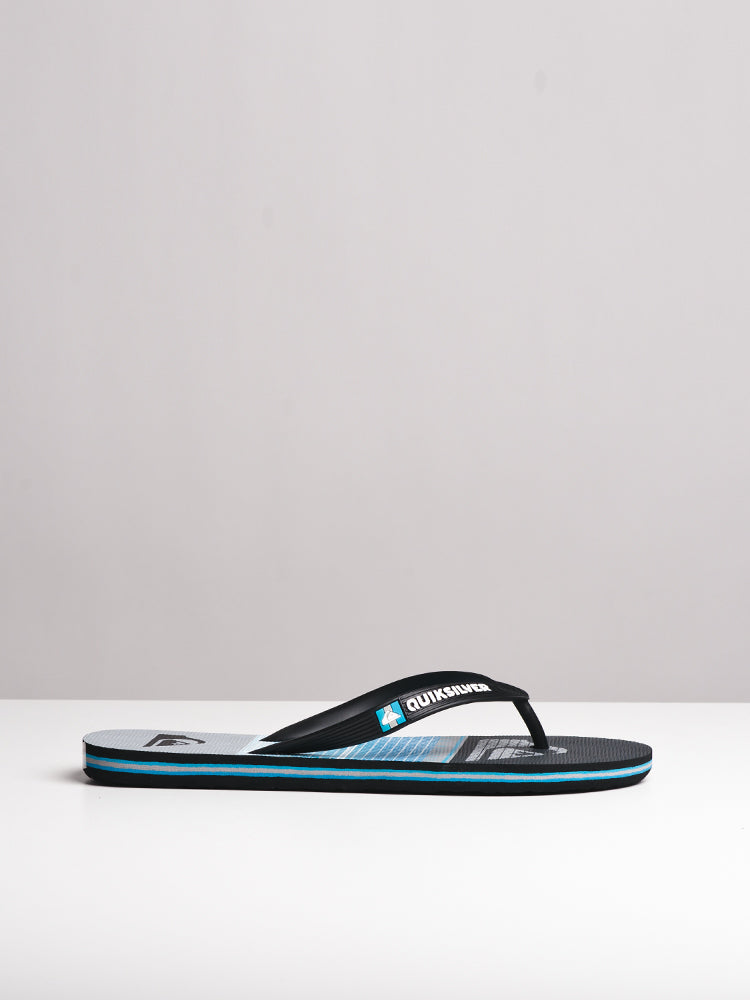 MENS MOLOKAI HIGHLINE SLAB BLACK SANDALS- CLEARANCE