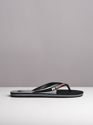 MENS MOLOKAI SLAB LOGO BLACK/GREY SANDALS- CLEARANCE
