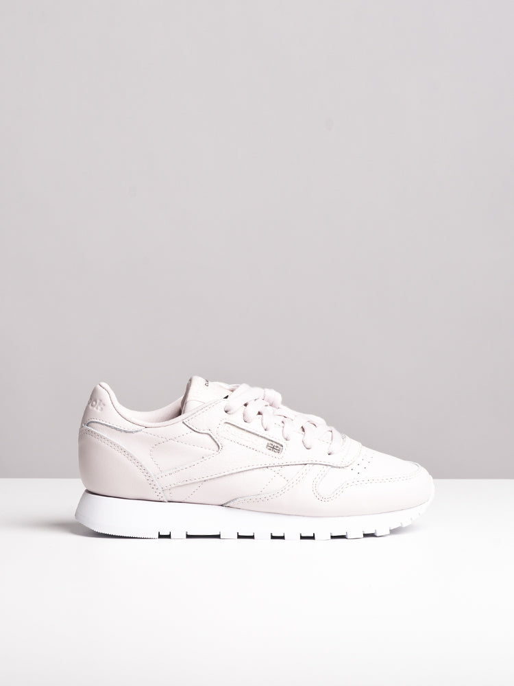 WOMENS CL LEATHER X FACE LILAC/WHITE SNEAKERS- CLEARANCE