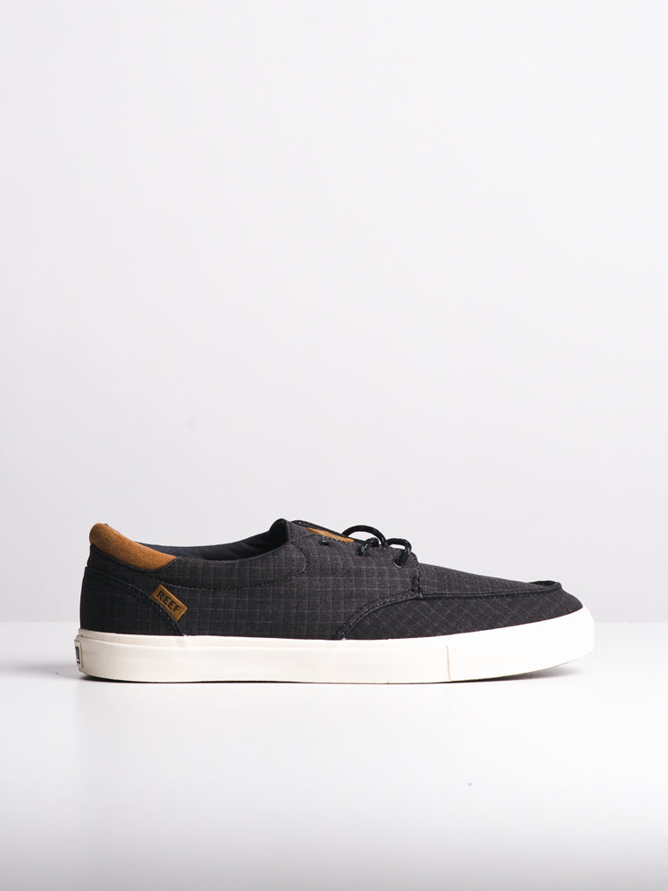MENS REEF DECKHAND 3 TX BLACK SLIP-ONS- CLEARANCE