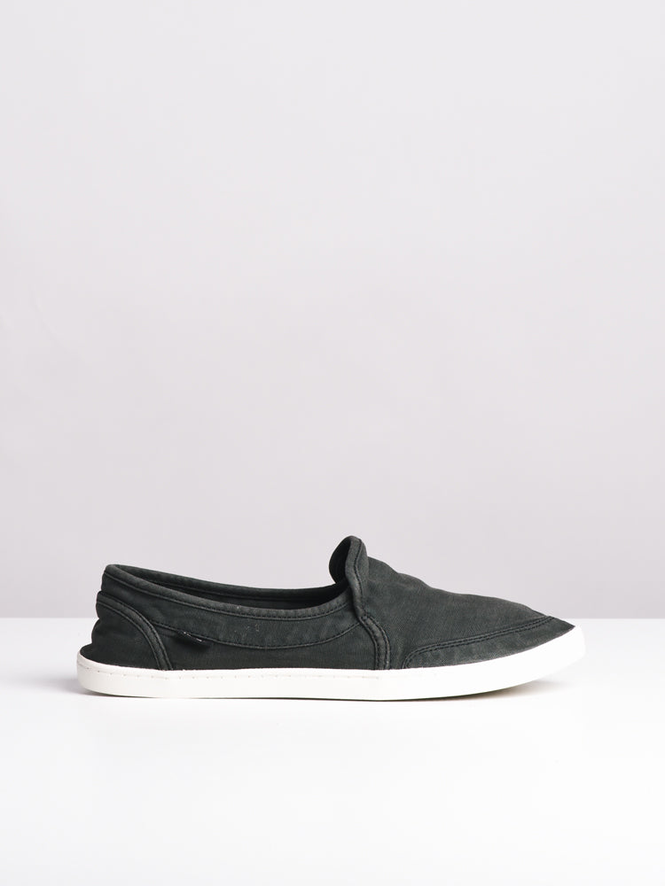 WOMENS PAIR O DICE WASHED BLACK CANVAS SHOES- CLEARANCE