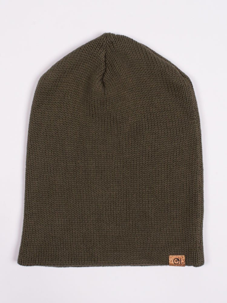 HERITAGE BEANIE - OLIVE NIGHTS - CLEARANCE