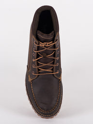 MENS OAKWELL 7EYE LEATHER & FAB BOOTS