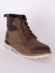 MENS ASHLAND - BROWN LEATHER WOOL