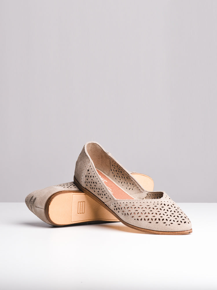 WOMENS THE JUTTI DESERT TAUPE FLATS- CLEARANCE