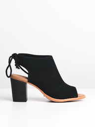 WOMENS THE ELBA - BLACK SUEDE - CLEARANCE