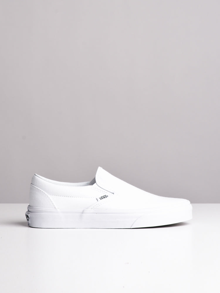 WOMENS CLASSIC SLIP ON TRUE WHITE CANVAS SHOES