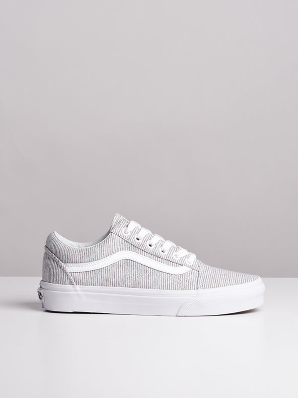 WOMENS OLD SKOOL JERSEY GREY/WHITE CANVAS SHOES