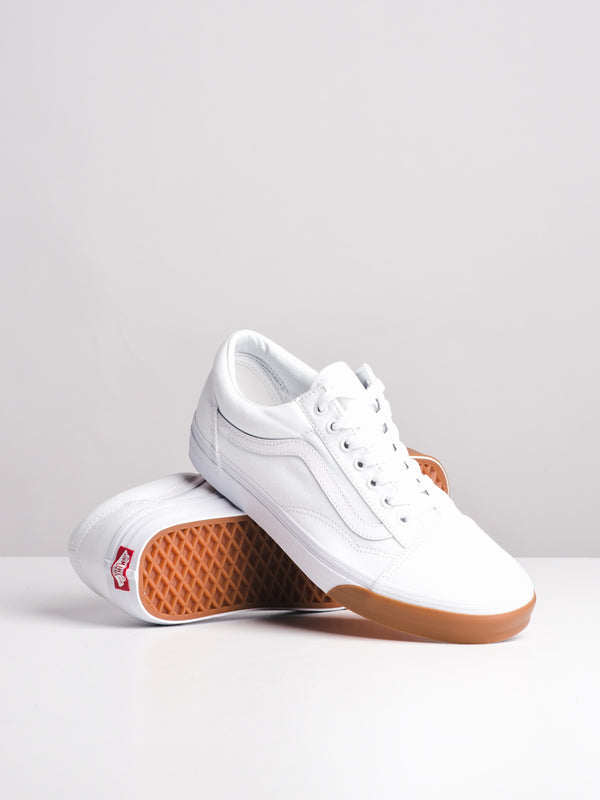 MENS OLD SKOOL GUM BUMPER/WHITE CANVAS SHOES