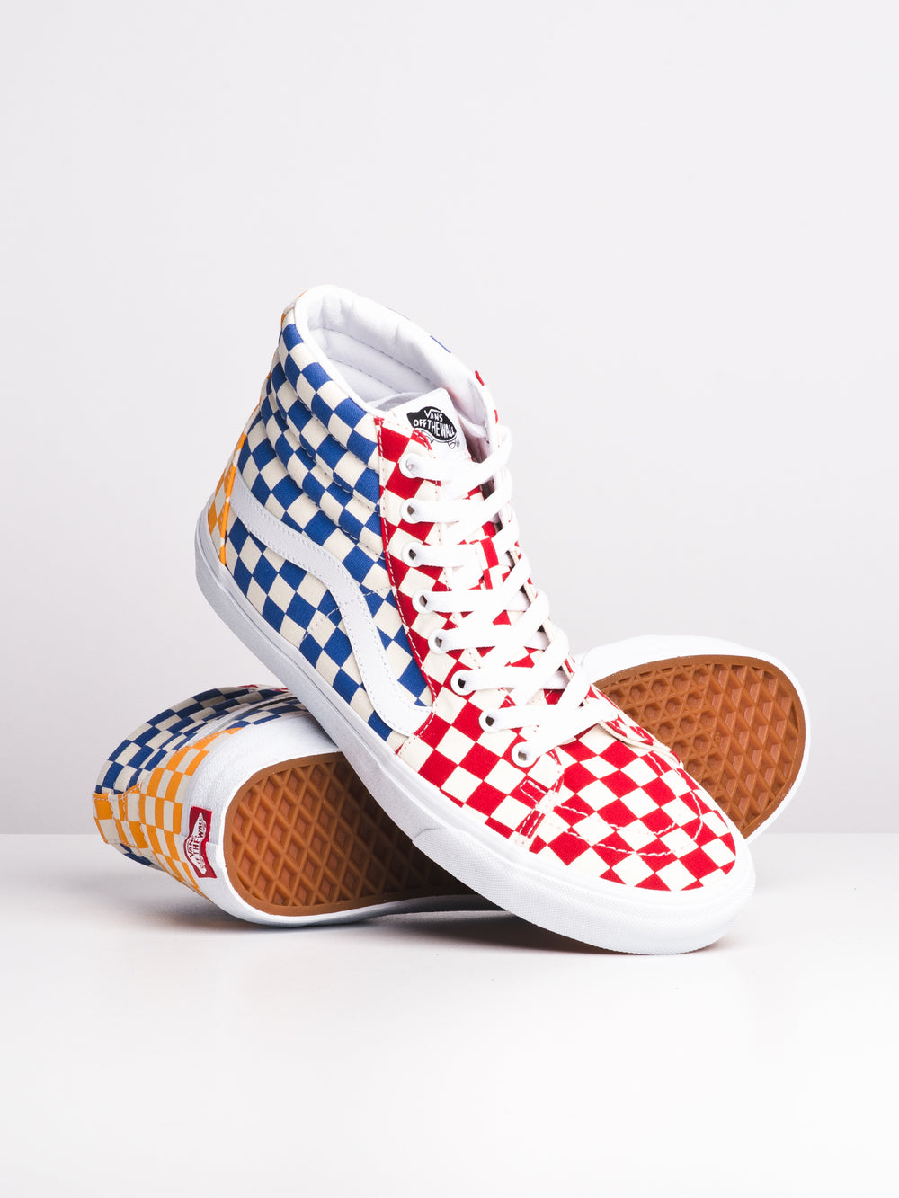 MENS SK8 HI - MULTI CHECKERBOARD - CLEARANCE