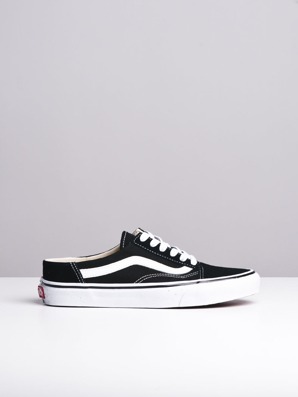 6af7f883cce WOMENS OLD SKOOL MULE BLACK WHITE CANVAS SHOES- CLEARANCE ...