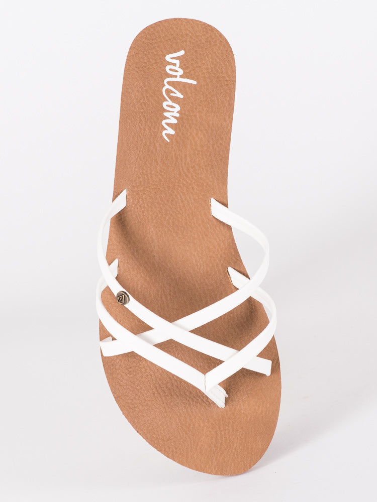 WOMENS NEW SCHOOL WHITE SANDALS