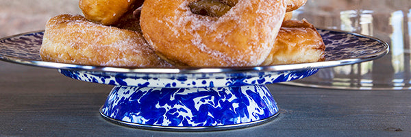 Cobalt Swirl by Golden Rabbit Enamelware