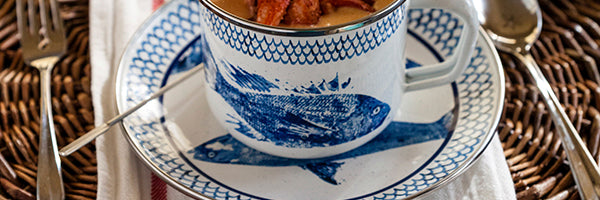 Fish Camp by Golden Rabbit Enamelware