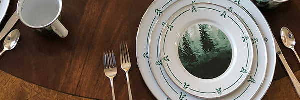 Forest Glen by Golden Rabbit Enamelware
