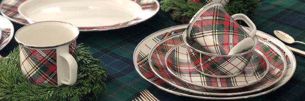 Highland Plaid by Golden Rabbit Enamelware